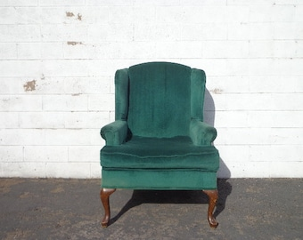 Wingback Chair Traditional Wing back Lounge Formal Reading Armchair Seating Vintage Chippendale Mid Century Modern English Set High Back