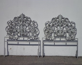Pair of Headboards Twin Bed Single Headboard Furniture Bedroom Ornate Hollywood Regency Country French Rococo Vintage Glam Boho Bohemian