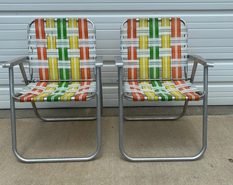 2 Mid Century Patio Armchairs Beach Chairs Vintage Garden MCM Regency Armchairs Seating Lounge Chair Mid Century Modern Retro Furniture