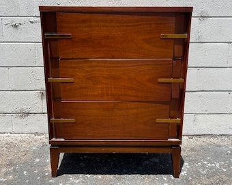 Mid Century Modern Nightstand Chest of Drawers Bedside Table Basic Media Console Furniture Bar Mcm Storage CUSTOM Paint Refinishing  AVAIL