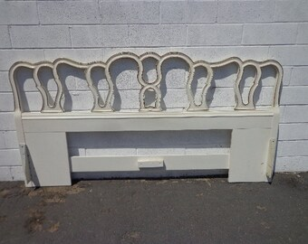 Headboard French Provincial Bed King Size Vintage Bedroom Neoclassical Regency Furniture Shabby Chic Rococo Bedroom Set CUSTOM PAINT AVAIL