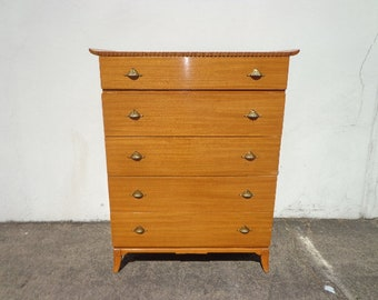 Antique Chest of Drawers by Rway Art Deco Tall Dresser Wood Furniture Midcentury Mid Century Retro Bedroom storage CUSTOM PAINT AVAIL