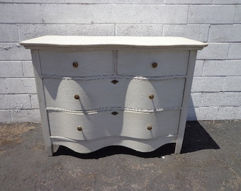 Antique Dresser Traditional Wood Chest Drawers Shabby Chic Country French Cottage Rustic Bedroom Storage Table Wood CUSTOM PAINT AVAILABLE