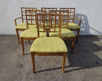 Fabulous Set of Vintage Dining Chairs Wood Armchair Kitchen Seating Traditional Regency Eclectic Style Drexel American CUSTOM PAINT AVAIL