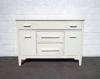 Buffet Cabinet Display Case Hutch Buffet Server Media Console Mid Century Modern Art Deco Farmhouse Storage Table Vintage CUSTOM PAINT AVAIL