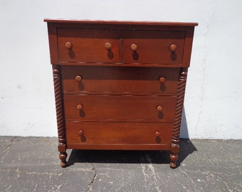 Antique Dresser Chest of Drawers Mahogany Vintage Server Buffet French Provincial Storage Table Console Display Dining CUSTOM PAINT AVAIL