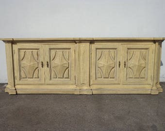 Buffet Console Sideboard Dresser Spanish Revival Storage Hutch Regency Glam French Provincial Neoclassical Dining Cabinet CUSTOM PAINT AVAIL