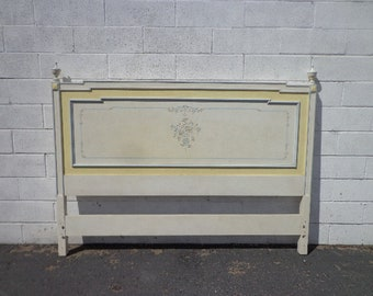Vintage Headboard French Provincial Bed Queen Size Bedroom Neoclassical Regency Furniture Shabby Chic Rococo Bedroom Set CUSTOM PAINT AVAIL