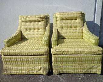 2 Fabulous Vintage Regency Inspired Back Chairs Armchairs Seating Wood Dining Lounge Club Chair Mid Century Modern MCM wood peg Furniture