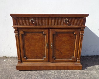 Drexel Heritage Antique Wood Cabinet Furniture Liquor Sideboard Table Entry Way Vintage Server Storage Living Room Dining CUSTOM PAINT AVAIL