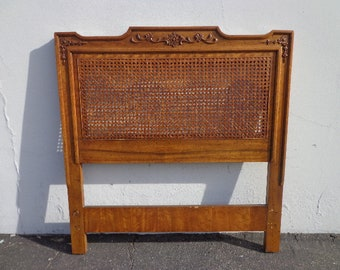 Twin Headboard French Provincial Bed Bedroom Country Empire Shabby Chic Regency Cane Hollywood Shabby Chic Cottage  CUSTOM PAINT AVAILABLE