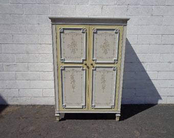 Armoire Closet Storage Dresser Chest of Drawers Highboy Vintage Traditional Tallboy Regency French Provincial Chic CUSTOM PAINT AVAIL