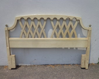 Headboard Bed Baroque Hollywood Regency Country French Provincial Neoclassical Shabby Chic Boho Vintage Rococo Bedroom CUSTOM PAINT AVAIL