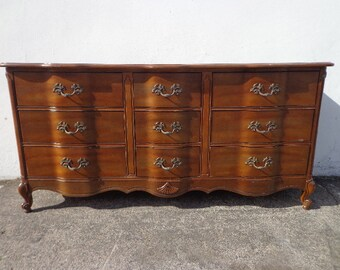 French Provincial Dresser Vintage Antique Wood Furniture CUSTOM PAINT AVAILABLE
