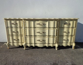 Dresser French Provincial Chest of Drawers Shabby Chic Mid Century Buffet Media Console Bedroom Set Storage Nursery Table CUSTOM PAINT AVAIL