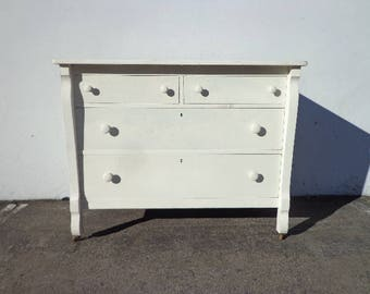 Antique Dresser Chest of Drawers French Provincial Vintage Shabby Chic Cottage Storage Bedroom Entry Way Buffet Console CUSTOM PAINT AVAIL