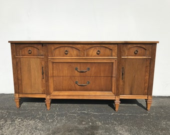 Antique Buffet Cabinet Tv Regency Sideboard Hutch Wood Console French Provincial Country Storage Console Server Table CUSTOM PAINT AVAIL