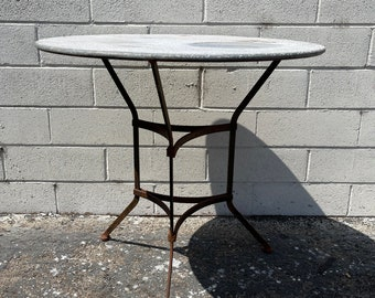 Vintage Patio Table Dining Indoor Outdoor Mid Century Modern Iron Furniture Hollywood Regency Metal Balcony Garden Porch Pool Furniture