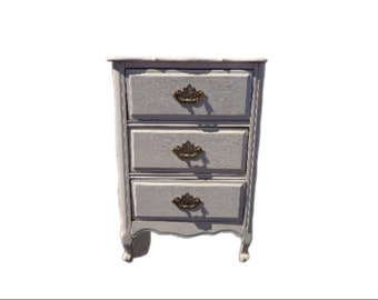 Shabby Chic Nightstand Table Victorian French Provincial Empire Antique Finish Storage Bedside Storage Country Bedroom CUSTOM PAINT AVAIL