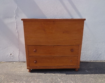 Antique Dresser Chest Trunk Tall Boy Highboy Drawers Shabby Chic Country French Cottage Rustic Bedroom Storage Table CUSTOM PAINT AVAILABLE