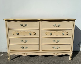 Dresser French Provincial Buffet Tv Stand Console Chest Sears Bonnet Shabby Chic Vanity Bedroom Storage Regency Boho CUSTOM PAINT AVAIL