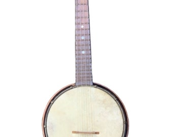 Antique 1920s Banjo Tenor Slingerland Supertone Lange Style Prewar Ukulele Guitar Unmarked Vintage Ukulele Musical Stringed Instrument 1920s