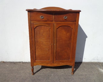 Antique Chest of Drawers Tall Dresser Armoire Wardrobe Closet Wood Bedroom Storage Farmhouse Shabby Chic Traditional CUSTOM PAINT AVAIL