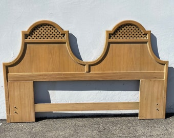 Vintage Thomasville Glam Headboard King Size Bed Moroccan Style Bohemian Boho Chic Wood Regency Hollywood Bedroom CUSTOM PAINT Avail