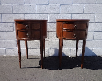 Pair of Antique Nightstands Art Deco Bedside Tables Mercury Glass Nightstand Furniture Traditional Bedroom storage CUSTOM PAINT AVAIL