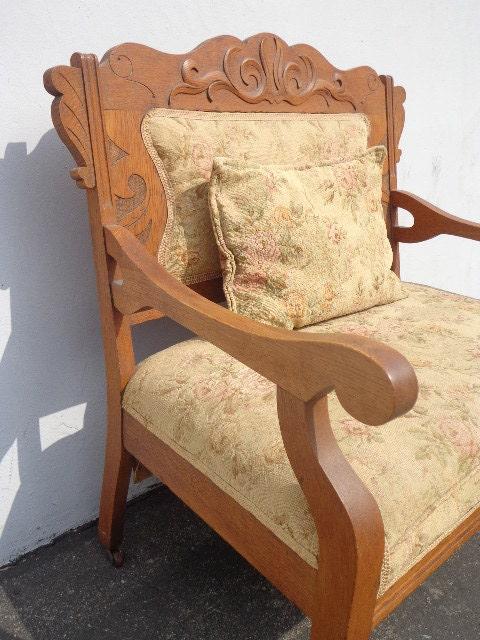 On Hold Eastlake Antique Victorian Sofa Loveseat Settee