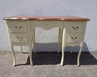Antique Desk Table Vintage Regency French Provincial Writing Set Vanity Shabby Chic Desk Dresser Sewing Stand Neoclassic CUSTOM PAINT AVAIL