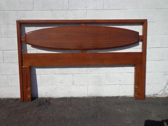 Mid Century Modern Headboard Lane Solid Wood Mcm Danish Queen Etsy