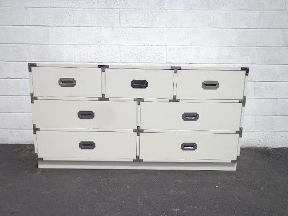 Campaign Chest Dresser Vintage Mid Century MCM Bureau Buffet | Etsy