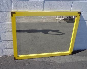 Wall Mirror Campaign Brass Gold Vintage Vanity Bohemian Chic Boho Antique Coastal Beachy Chinoiserie Hollywood Regency CUSTOM PAINT AVAIL