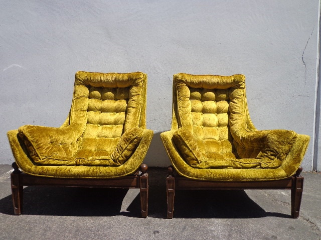 Pair Of Chairs Lounge Armchair Mid Century Modern Mcm