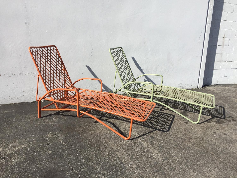 2 Brown Jordan Tamiami Adjustable Chaise Lounge Pool Patio Chair Mid