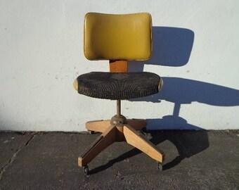 Task Chair Tanker Mid Century Modern Paul McCobb Bentwood Danish Office Midcentury Eames Wood Writing Swivel Lounge Vintage Retro Seating