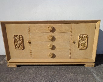 Asian Console Cabinet Storage James Mont Regency Chinoiserie Dresser Bureau Chest Drawers Media Buffet Sideboard Table CUSTOM PAINT AVAIL