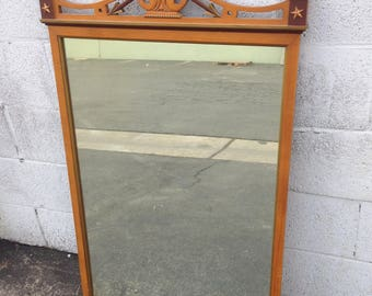 Mirror Wall Vintage Vanity Makeup Boudoir Dressing Room Shabby Chic Antique French Provincial Boho Chic Bedroom Hollywood Regency Neoclassic