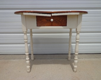 Antique Vanity Desk Table Wood Vintage Regency Country French Provincial Writing Set Vanity Shabby Chic Desk Sewing Stand Neoclassic Spindle