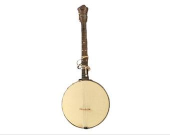 Antique May Bell 1920s Banjo By Slingerland Banjo Co Amraco Calf Retains Stamp Dean's Music House Springfield Mass Prewar Ukulele Guitar