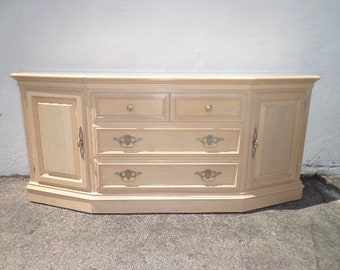 Buffet French Provincial Cabinet Console Tv Stand Server Storage Country Shabby Chic Regency Vintage Entry Sofa Table CUSTOM PAINT AVAIL