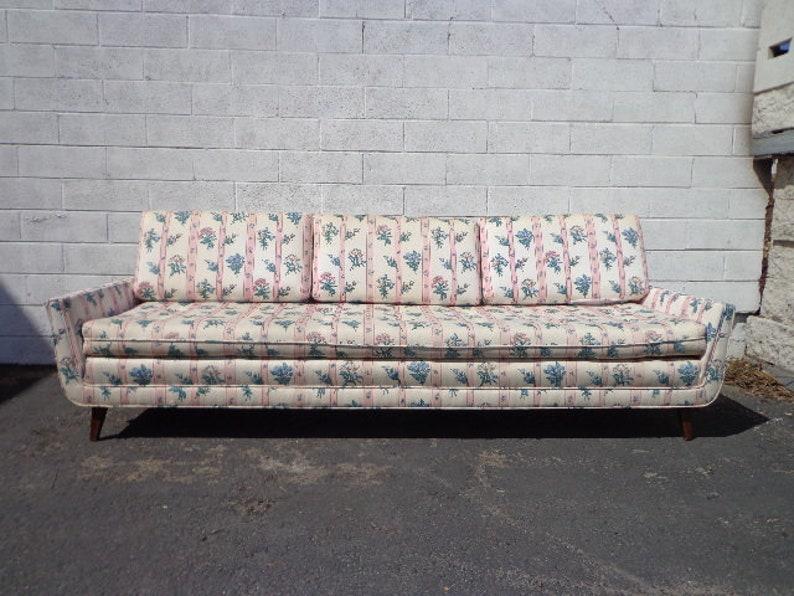 Strange Mid Century Modern Sofa Couch Retro Danish Style Loveseat Seating Wood Legs Cushion Retro Vintage Chair Walnut Mcm Clean Line Design Bralicious Painted Fabric Chair Ideas Braliciousco