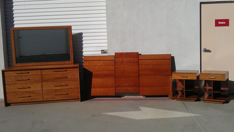 5pc Mid Centurymodern Bedroom Set By Renzo Rutili For Johnson Etsy