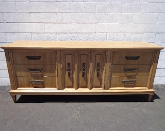 American of Martinsville Mid Century Modern Dresser Console Table MCM Chest of Drawers Bedroom Storage Vintage Sideboard CUSTOM PAINT Avail