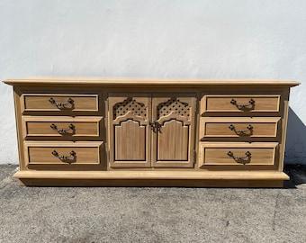 Vintage Thomasville Dresser Buffet Console Cabinet Wood Moroccan Glam Bohemian Boho Hollywood Regency Bedroom Storage CUSTOM PAINT AVAIL