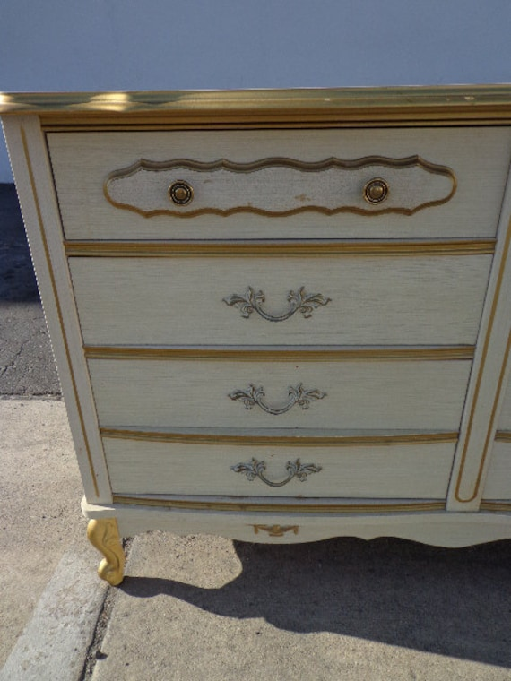 French Provincial Sears Bonnet Dresser Chest Of Drawers Shabby Etsy