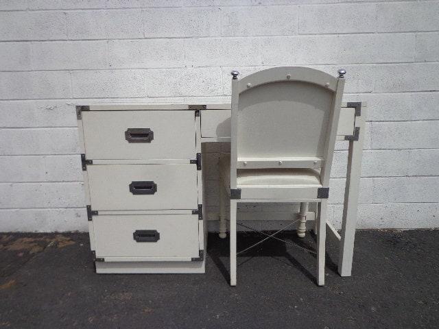 Vintage Campaign Desk Chair Office Work Mid Century Desk -1702