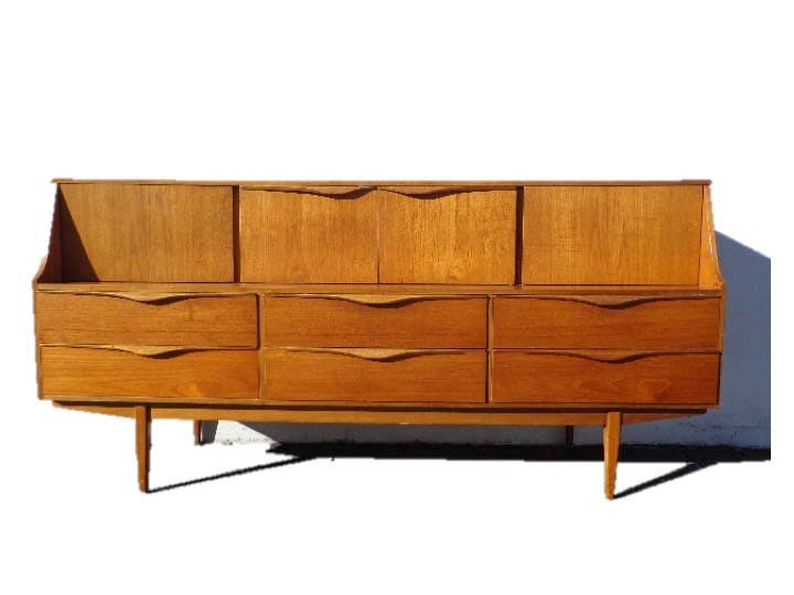 Mid Century Modern Danish Credenza : Mid century modern danish tv media console sideboard furniture