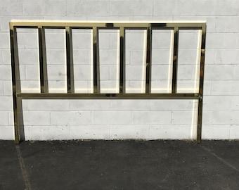 Headboard Brass Gold Furniture Bed Bedroom Glam Hollywood Regency Mid Century Modern Vintage Glam Boho Bohemian